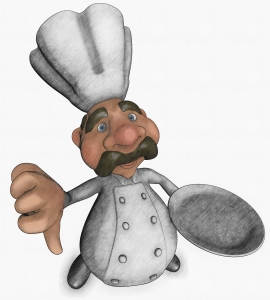 Picture of a chef with thumb down