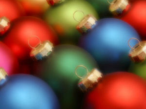 a picture of christmas balls