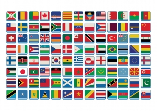 some flags of the world