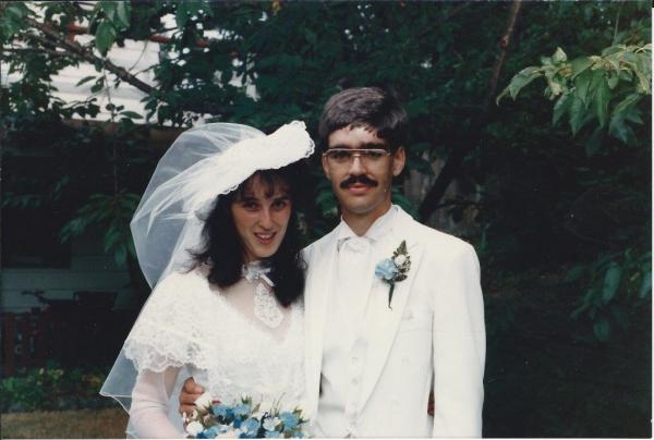 Tim and Susan wedding day