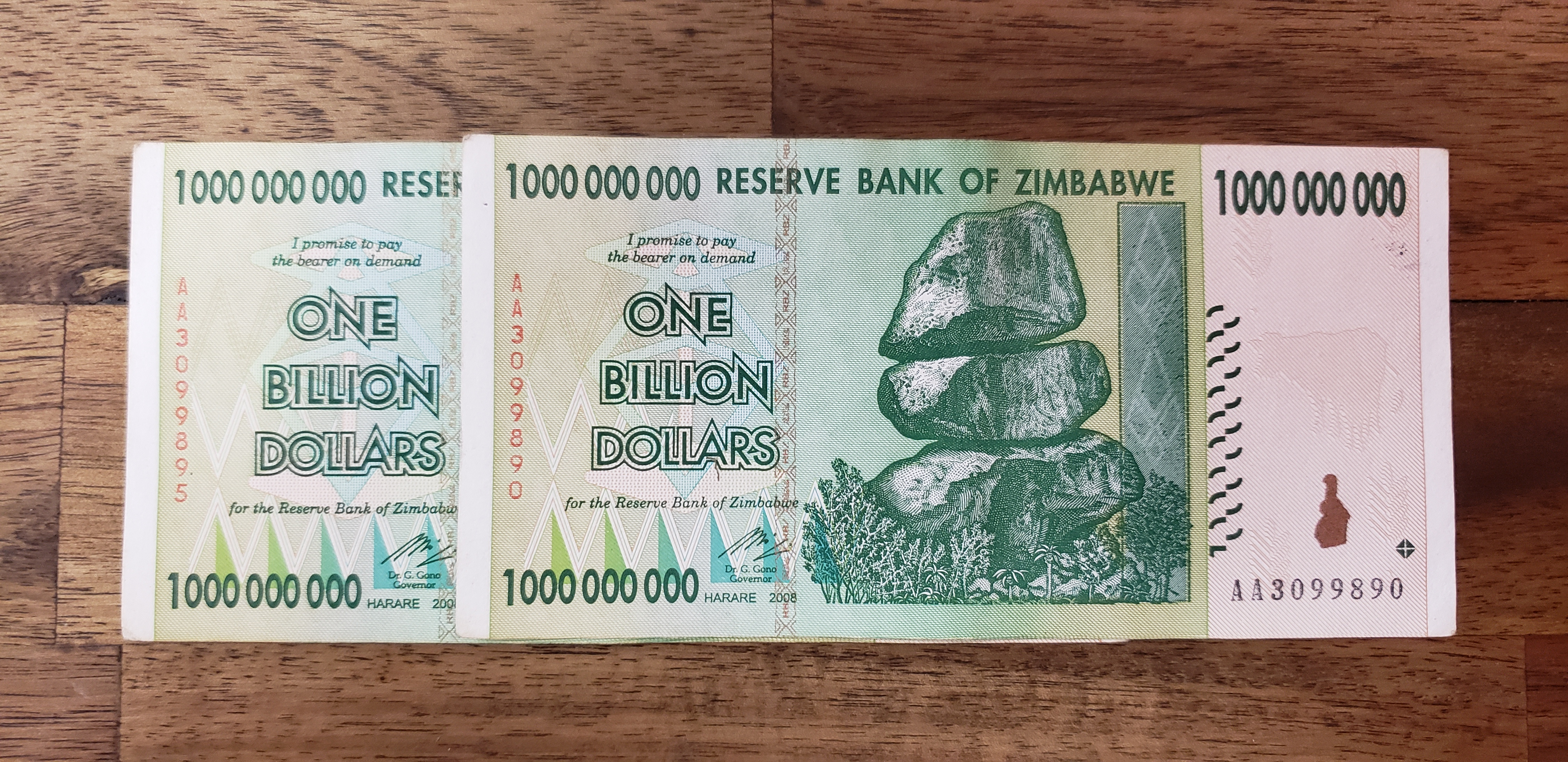 Two Billion - 2 Bills in Sequence
