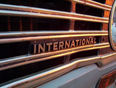 pickup truck international grill