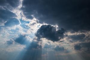 sky sun rays