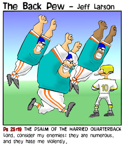 Blitzed Football Bible Cartoons