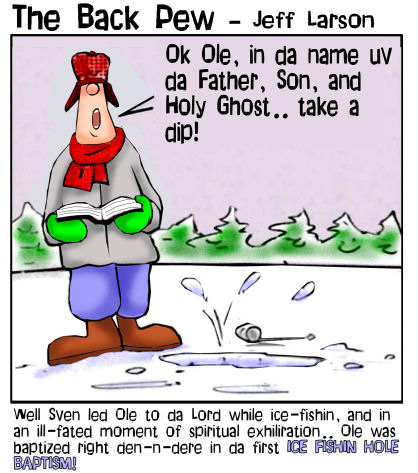 Ice Fishing Hole Baptism | Backpew | Cartoons | Entertainment Funny Ice Fishing Jokes