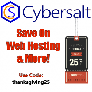 Cybersalt's Black Friday Sale Square