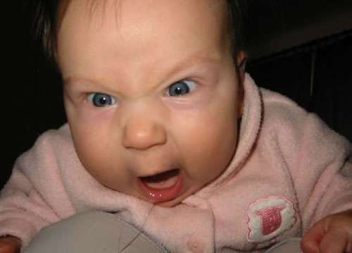 Funny Pictures of Angry Baby