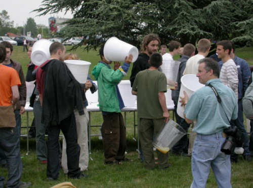 Funny Pictures of Picnic With Big Cups