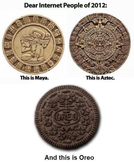 Picture of Mayan and Aztec calendars