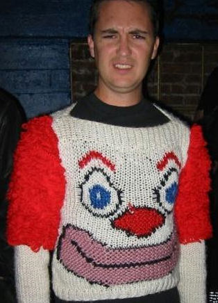 Funny Pictures of Clown Sweater