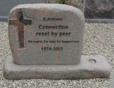 Funny Pictures of Computer Logged Out Tombstone
