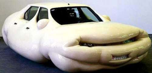 Funny Pictures of Fat, Obese, Air Bag Car
