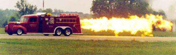 Funny Pictures of Jet Powered Fire Engine