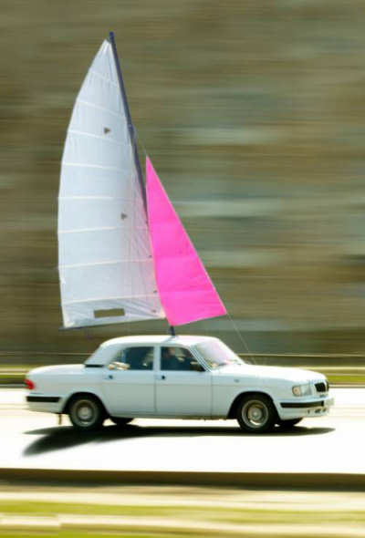 Car With Sail : Car for sail funny pictures entertainment