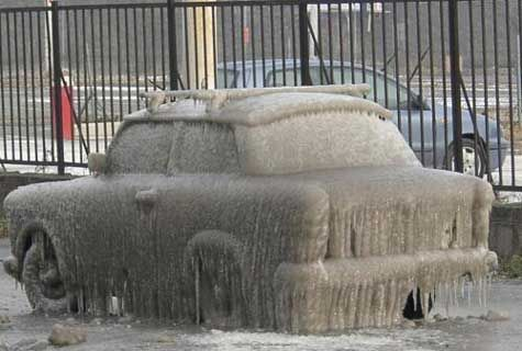 Funny Pictures of Ice Covered Car