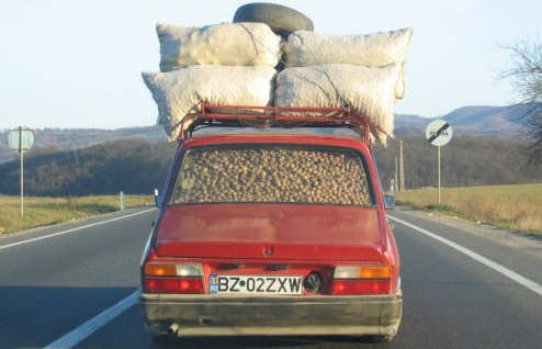 Funny Pictures of Car Loaded with Nuts