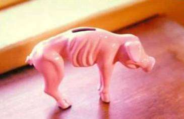 Funny Pictures of Skinny Gasoline Piggy Bank