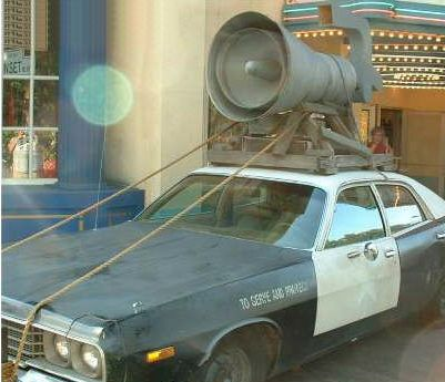Picture of Police Car With Huge Siren