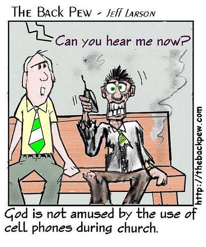 cell phones in church cartoon cartoons entertainment