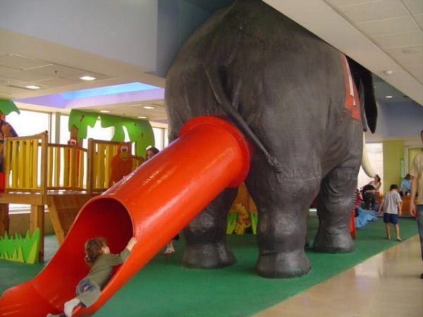 Picture of funny elephant slide