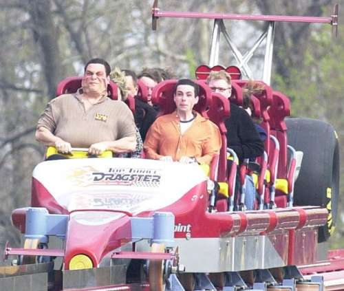 Funny Pictures of Face Lift on Roller Coaster