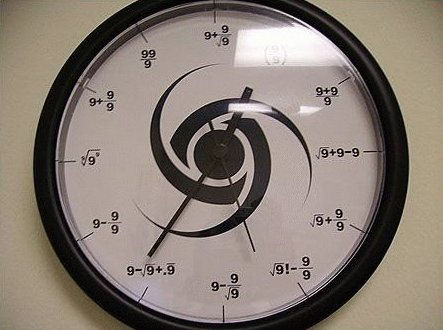 Funny Pictures of Clock with Math on Face