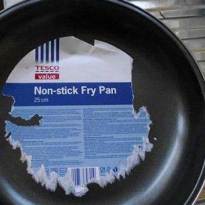 funny non-stick fry pan picture
