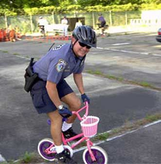 Funny Pictures of a Police Commandeered Child's Bicycle