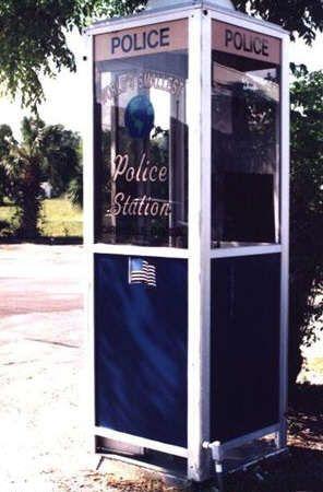 Funny Pictures of Police Station in Phone Booth