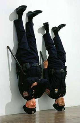 Funny Pictures of Upsidedown Police Officers