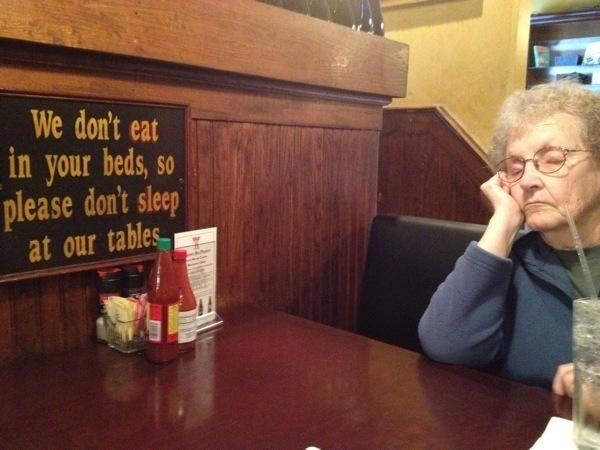 funny sign with a rebellious grandma