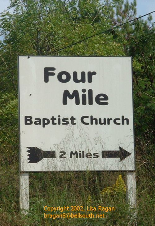 Funny Pictures of Church Sign with Directions