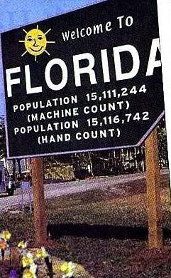 Funny Pictures of Florida Population Sign
