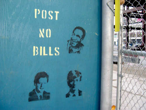 Funny Pictures of Post No Bills Sign