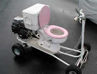 Funny Pictures of Toilet Scooter