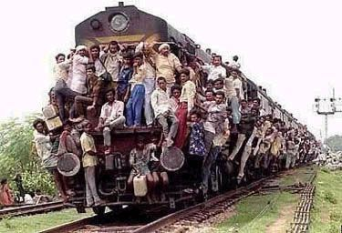 Funny Pictures of People Riding Overloaded Train