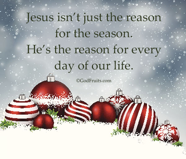 jesus isnt just the reason for the season hes the reason for every day of our life