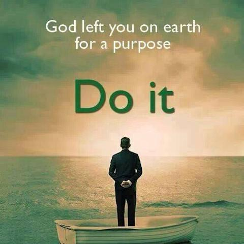 You are on earth for a purpose.