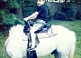 Funny Pictures of Boy on Headless Horse