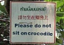 Funny Pictures of Do Not Sit on Crocodile Sign