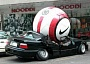 Funny Pictures of Car Crushed by Giant Soccer Ball