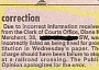 A Funny Newspaper Correction