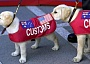 Funny Pictures of Customs Dogs Sniffing Each Other.
