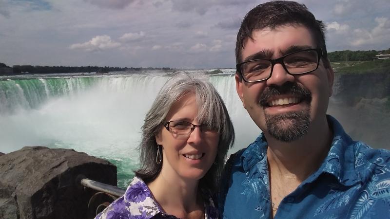 Tim and Susan at Niagara Falls