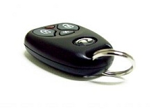 Picture of a car alarm remote