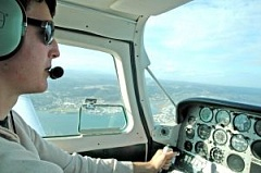 picture of pilot in plane