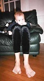 Funny Pictures of Baby With Long Legs