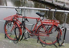 Funny Pictures of Bicycle With Lots of Locks