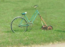 Funny Pictures of Bicycle Lawnmower