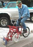 Funny Pictures of Bicycle Snow Plow